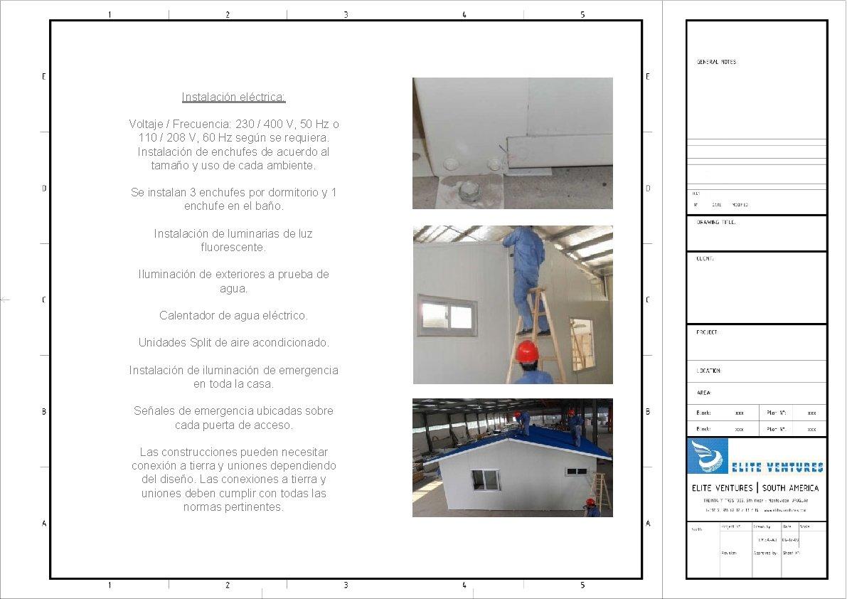 Instalación eléctrica: Voltaje / Frecuencia: 230 / 400 V, 50 Hz o 110 /