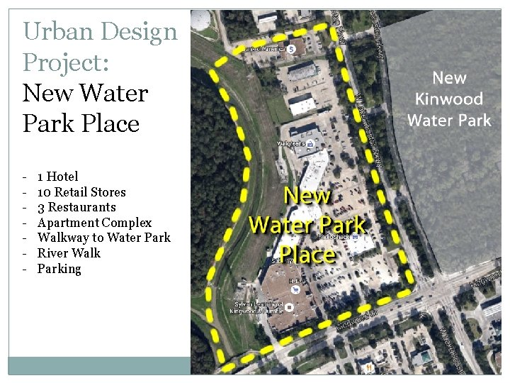 Urban Design Project: New Water Park Place - 1 Hotel 10 Retail Stores 3