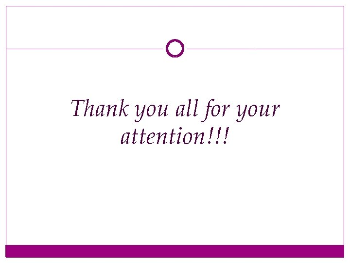 Thank you all for your attention!!!