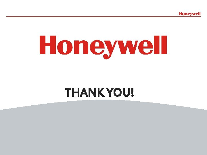 THANK YOU! 14 Honeywell Confidential File Number- 14