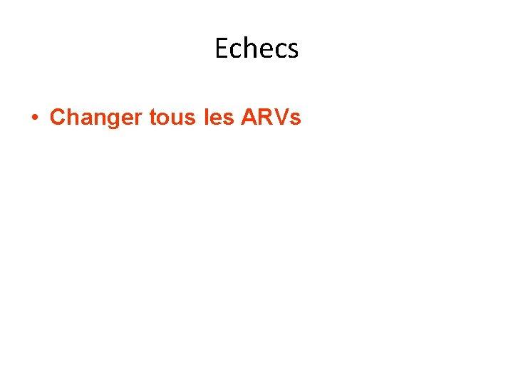 Echecs • Changer tous les ARVs