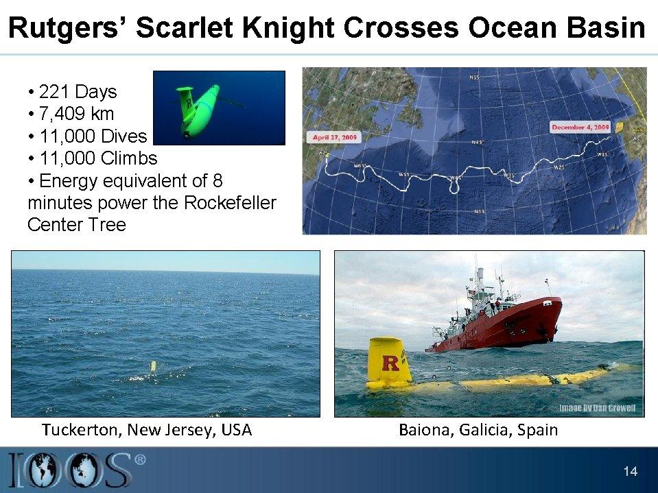 Rutgers' Scarlet Knight Crosses Ocean Basin • 221 Days • 7, 409 km •