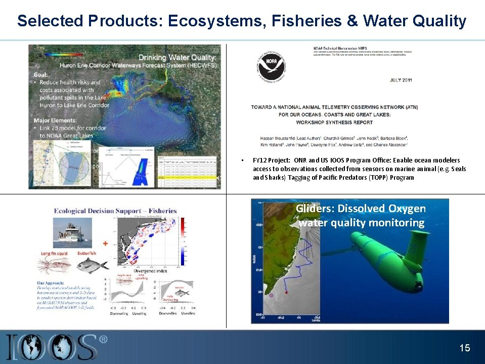 Selected Products: Ecosystems, Fisheries & Water Quality • FY 12 Project: ONR and US