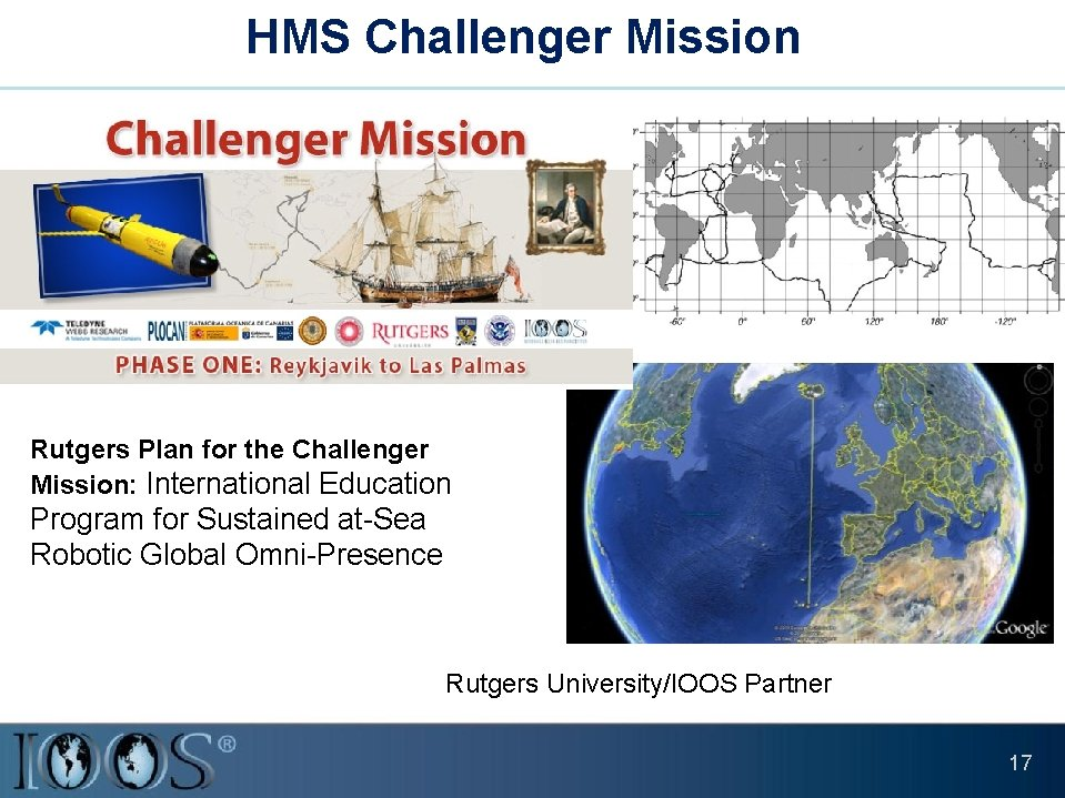HMS Challenger Mission Rutgers Plan for the Challenger Mission: International Education Program for Sustained