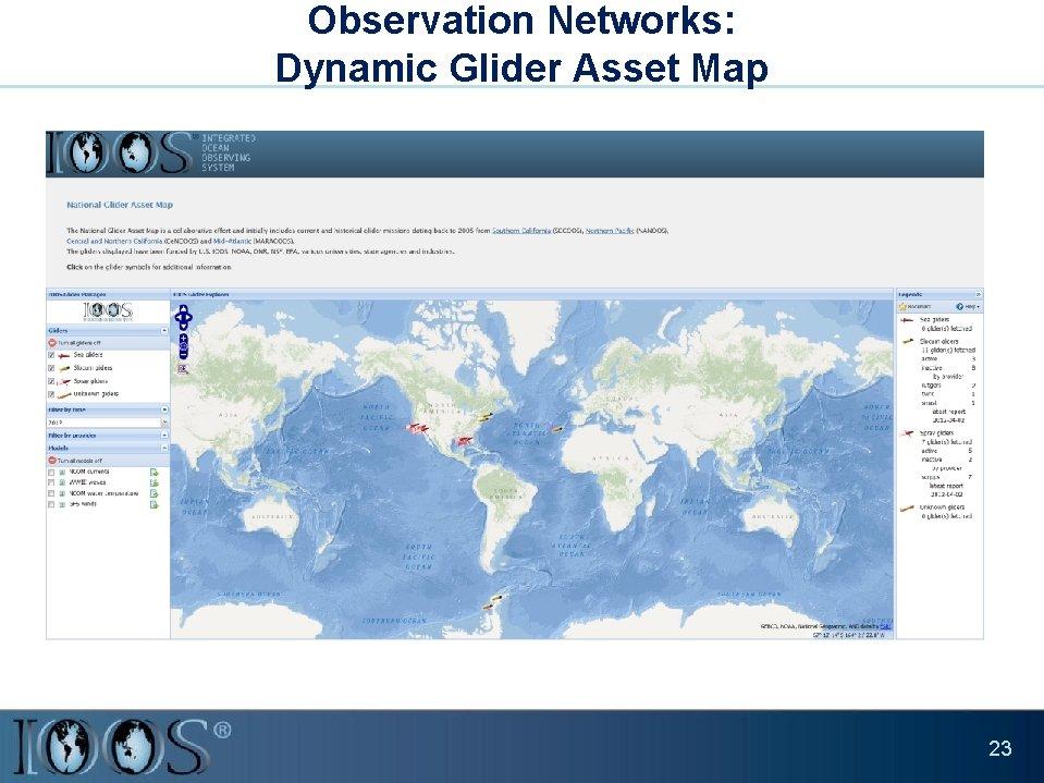 Observation Networks: Dynamic Glider Asset Map 23