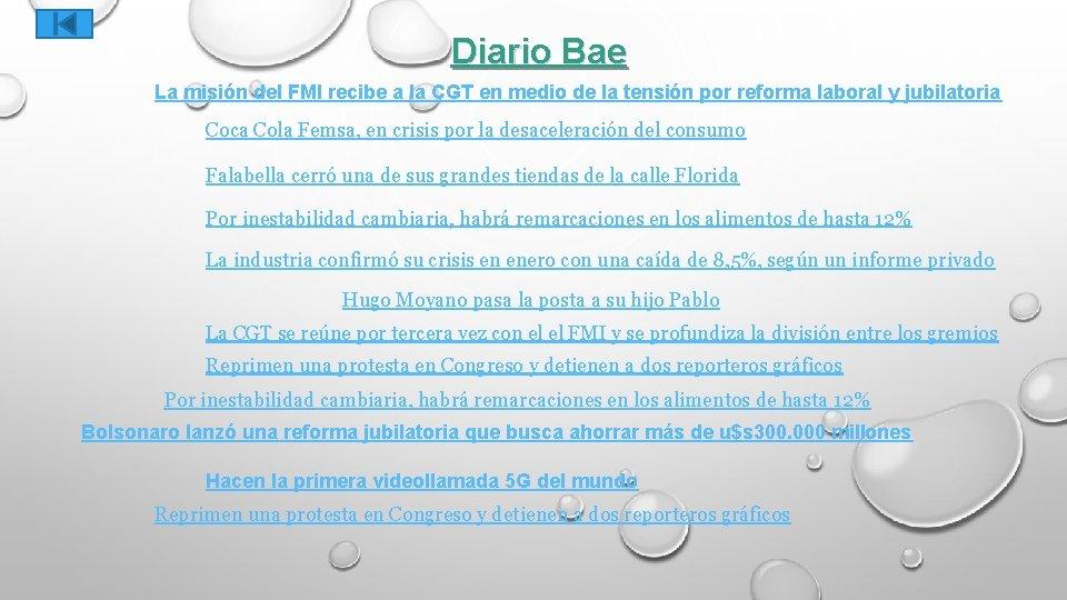 Diario Bae La misión del FMI recibe a la CGT en medio de la