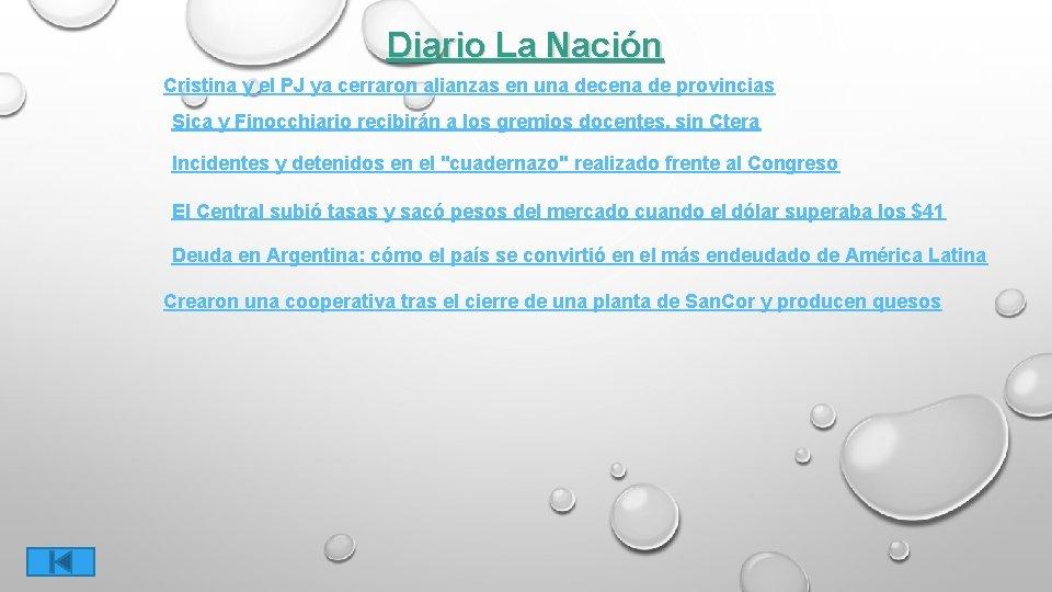Diario La Nación Cristina y el PJ ya cerraron alianzas en una decena de