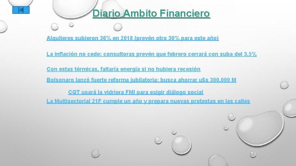 Diario Ambito Financiero Alquileres subieron 36% en 2018 (prevén otro 30% para este año)