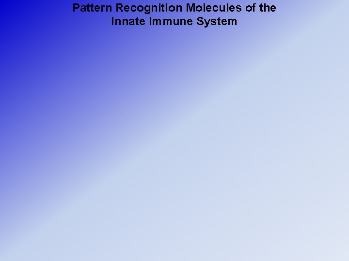 Pattern Recognition Molecules of the Innate Immune System