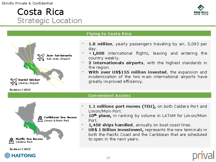 Strictly Private & Confidential Costa Rica Strategic Location Flying to Costa Rica • Juan
