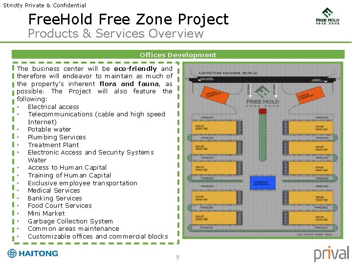 Strictly Private & Confidential Free. Hold Free Zone Project Products & Services Overview Offices