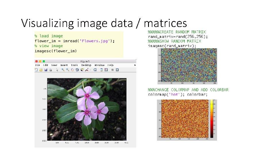 Visualizing image data / matrices