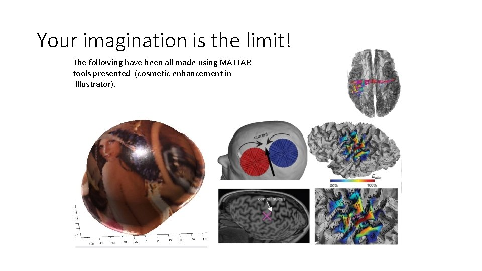Your imagination is the limit! The following have been all made using MATLAB tools
