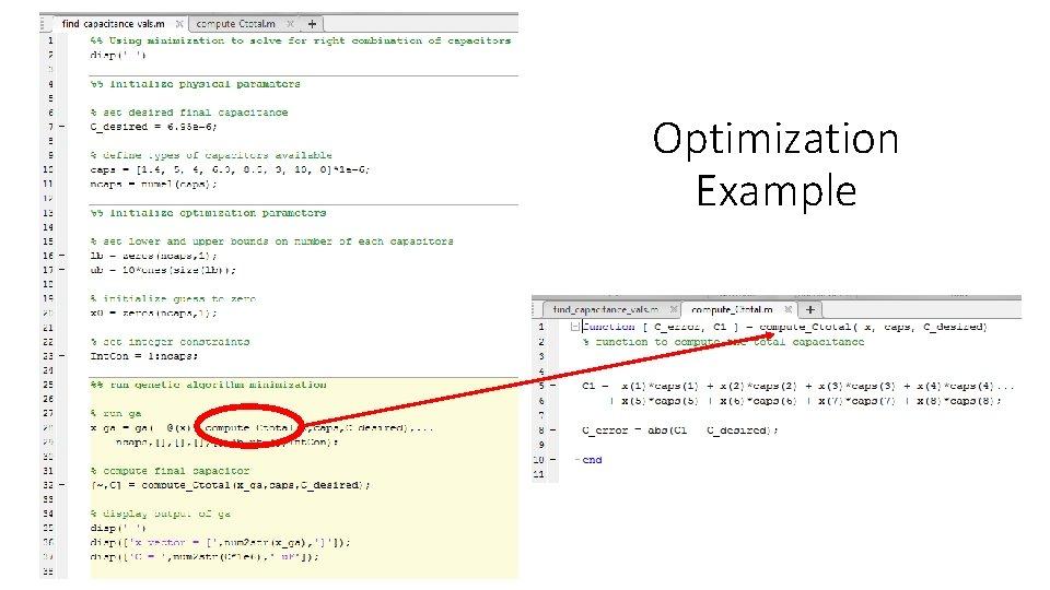 Optimization Example