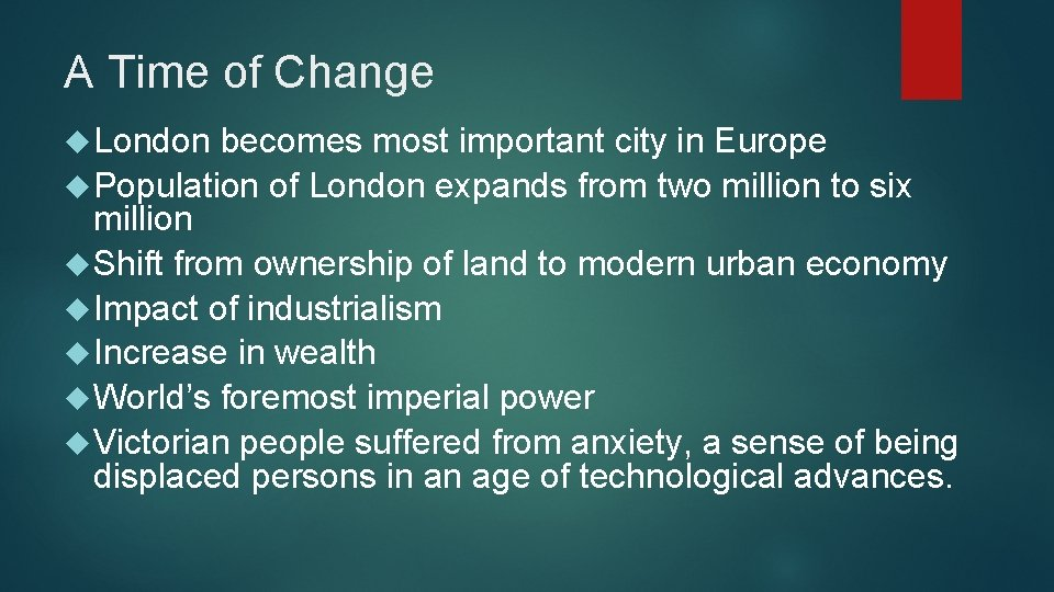 A Time of Change London becomes most important city in Europe Population of London