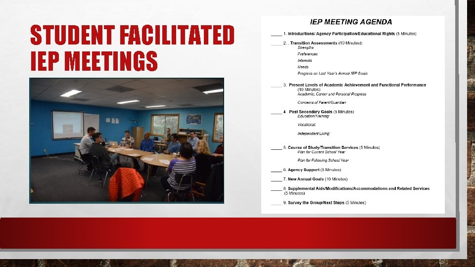STUDENT FACILITATED IEP MEETINGS