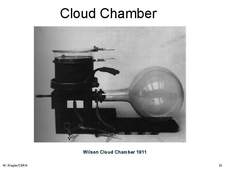 Cloud Chamber Wilson Cloud Chamber 1911 W. Riegler/CERN 19