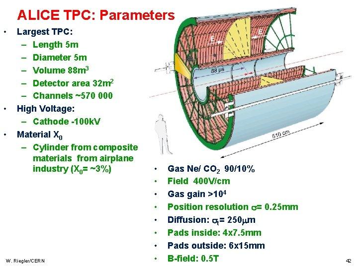 ALICE TPC: Parameters • • • Largest TPC: – Length 5 m – Diameter