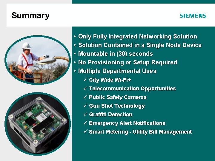 Summary Agenda • • • Only Fully Integrated Networking Solution Contained in a Single