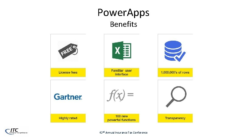 Power. Apps Benefits 42 nd Annual Insurance Tax Conference