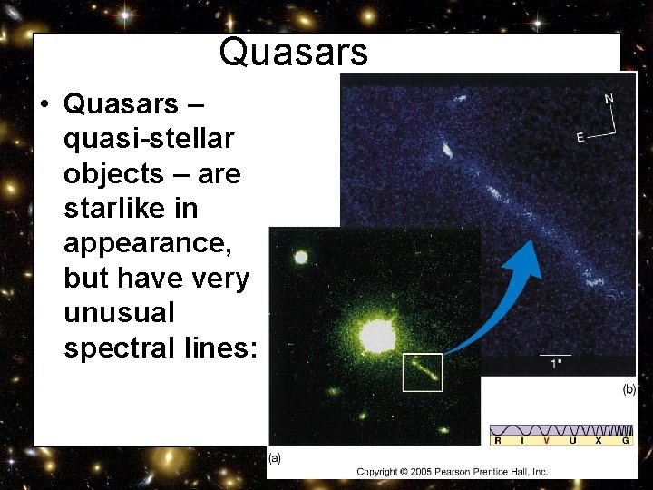 Quasars • Quasars – quasi-stellar objects – are starlike in appearance, but have very
