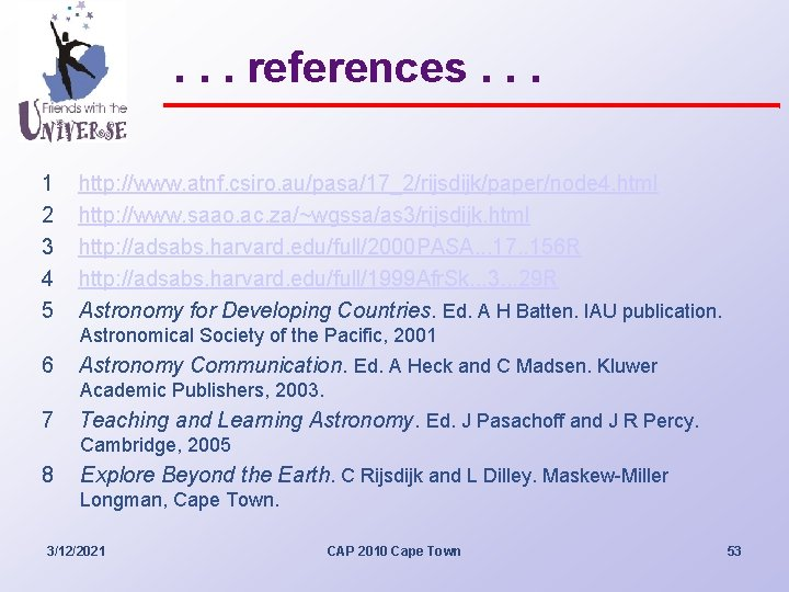 . . . references. . . 1 2 3 4 5 http: //www. atnf.