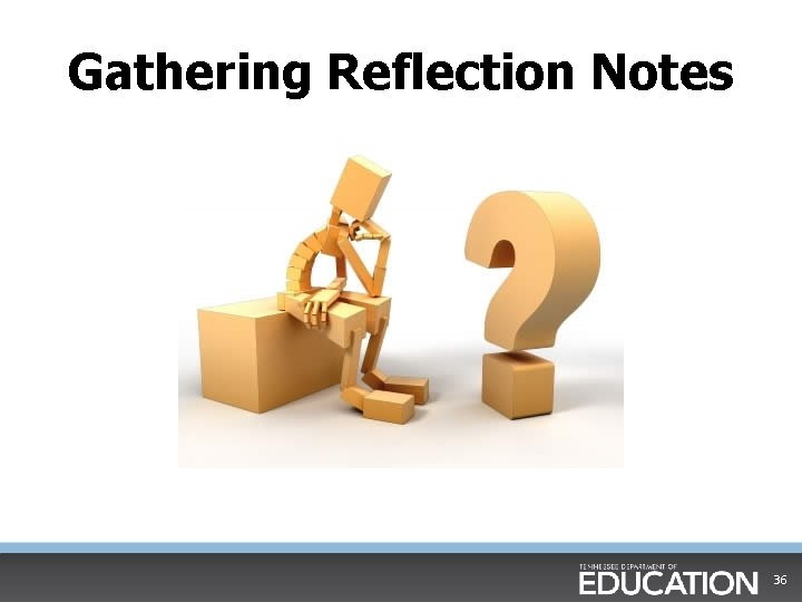 Gathering Reflection Notes Think About's 36