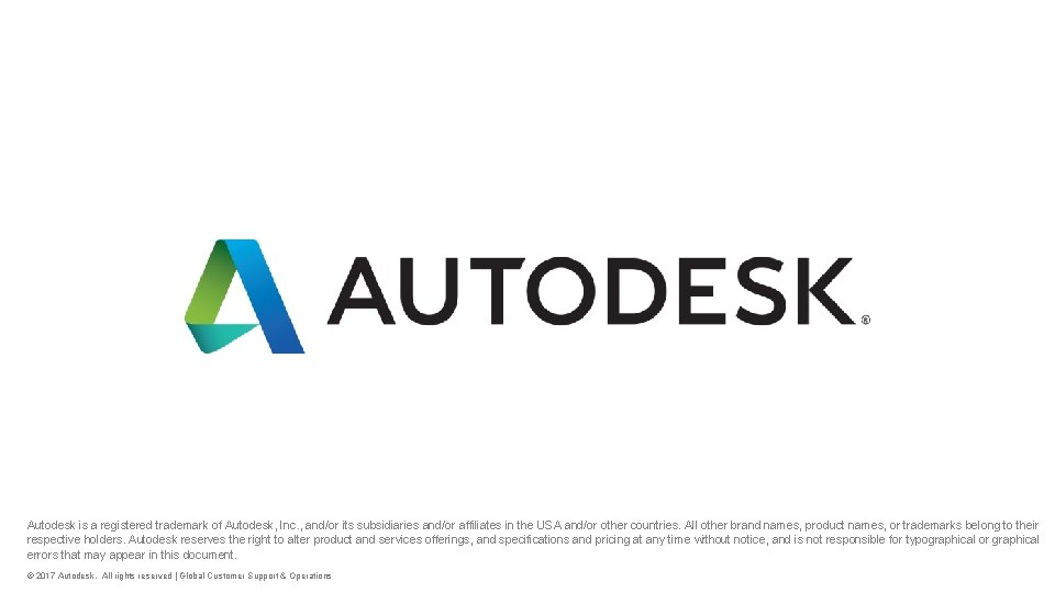 Autodesk is a registered trademark of Autodesk, Inc. , and/or its subsidiaries and/or affiliates