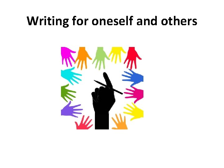 Writing for oneself and others