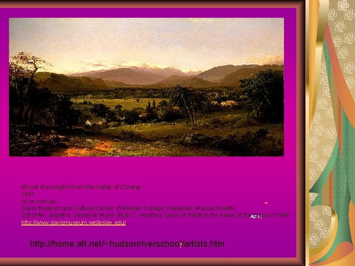 Mount Washington from the Valley of Conway 1851 oil on canvas Davis Museum and