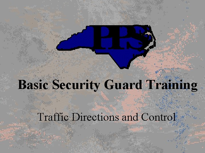 Basic Security Guard Training Traffic Directions and Control