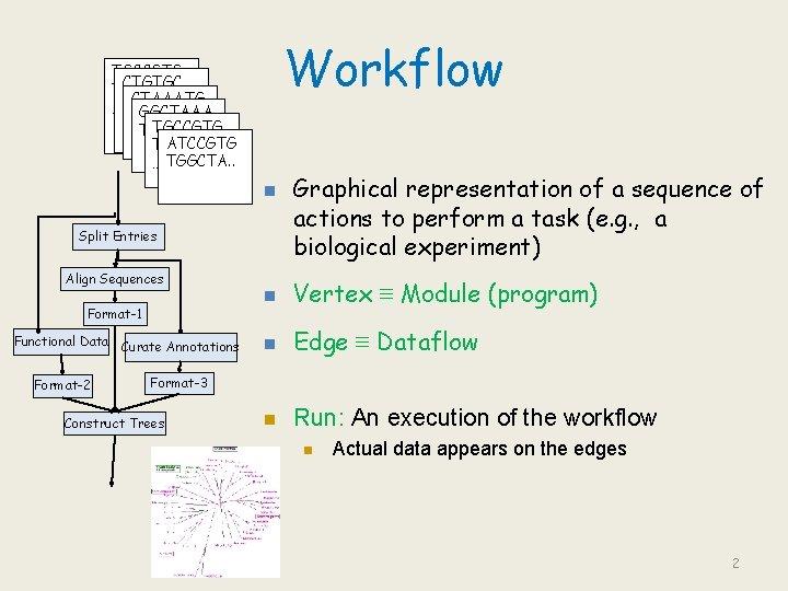 Workflow TGCCGTG CTGTGC TGGCTAAATG ATG… … GGCTAAA TCTGTGC TGCCGTG …TGTCTG ATCCGTG TGGCGTC … TGGCTA.