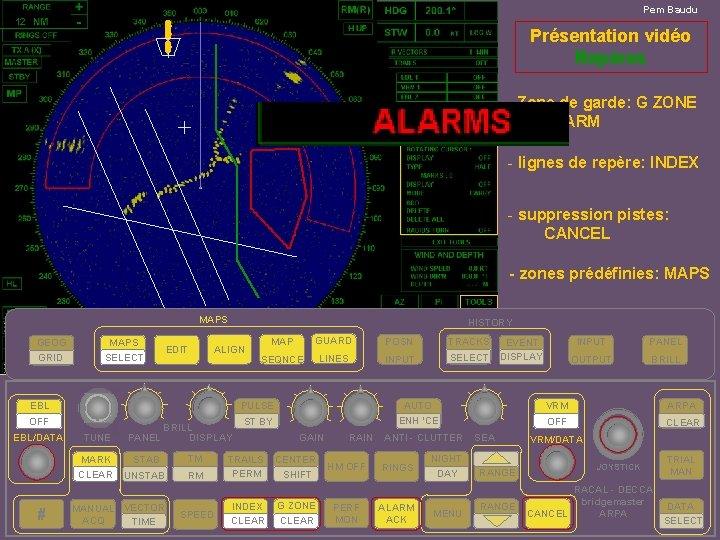 Pem Baudu 12 Présentation vidéo Repères - Zone de garde: G ZONE ALARM -