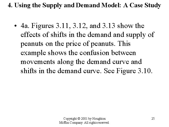 4. Using the Supply and Demand Model: A Case Study • 4 a. Figures