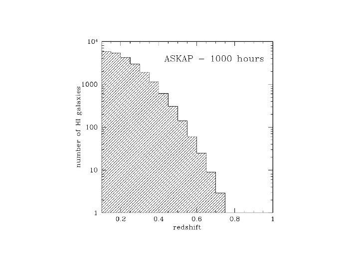 HI detections ASKAP 1000 hr