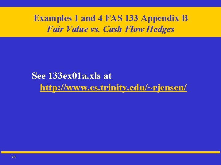 Examples 1 and 4 FAS 133 Appendix B Fair Value vs. Cash Flow Hedges