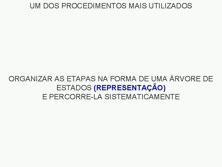 UM DOS PROCEDIMENTOS MAIS UTILIZADOS ORGANIZAR AS ETAPAS NA FORMA DE UMA ÁRVORE DE