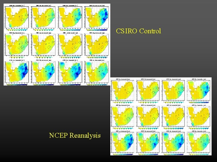 CSIRO Control NCEP Reanalysis