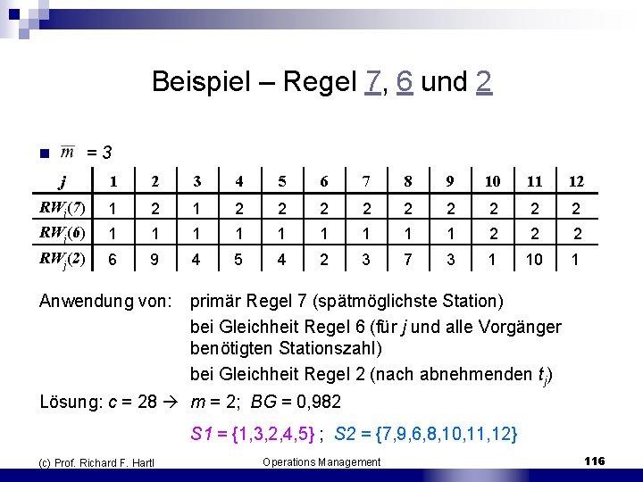 Beispiel – Regel 7, 6 und 2 n = 3 j 1 2 3