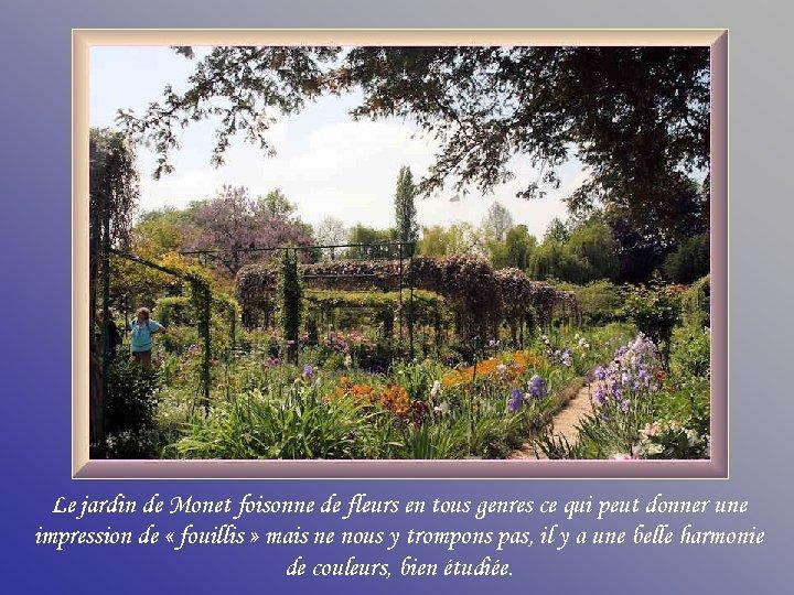 Le jardin de Monet foisonne de fleurs en tous genres ce qui peut donner