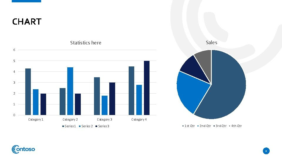 CHART Sales Statistics here 6 5 4 3 2 1 0 Category 1 Category