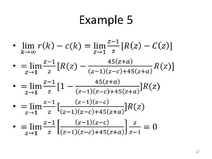 Example 5 • 12