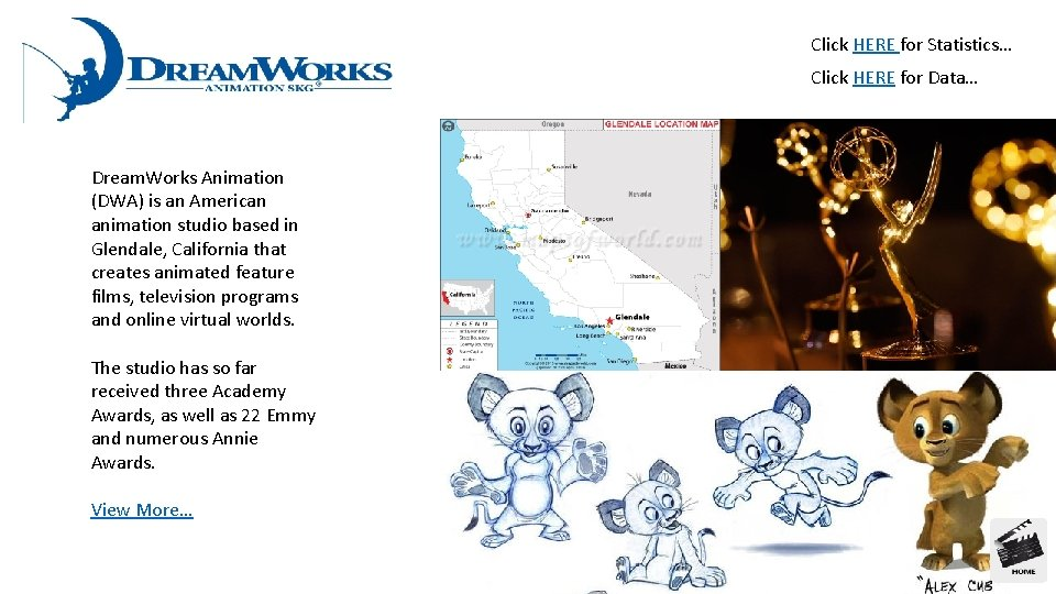 Click HERE for Statistics… Click HERE for Data… Dream. Works Animation (DWA) is an