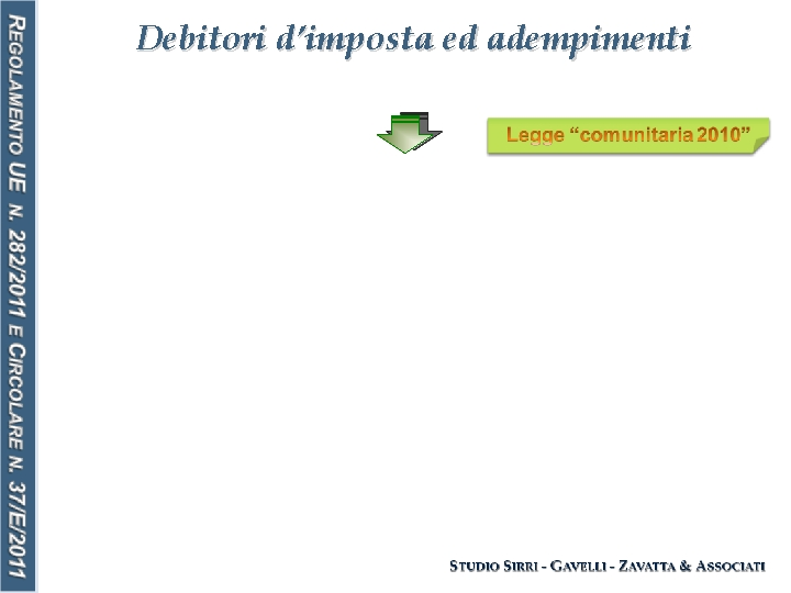 Debitori d'imposta ed adempimenti