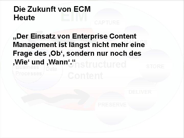 """Die Zukunft von ECM Heute """"Der Einsatz von Enterprise Content Management ist längst nicht"""