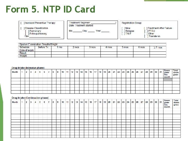 Form 5. NTP ID Card