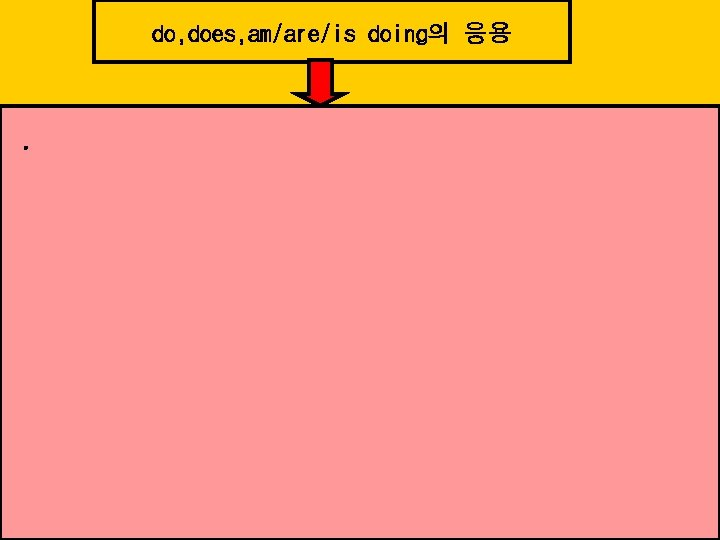 do, does, am/are/is doing의 응용 .