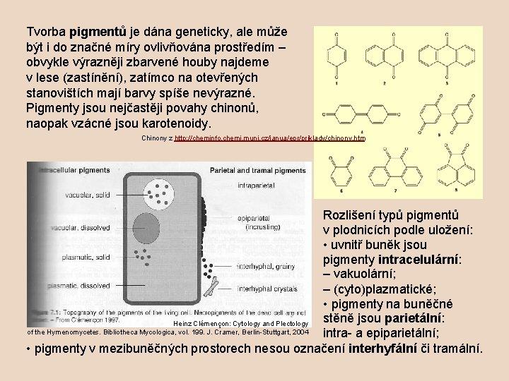 Tvorba pigmentů je dána geneticky, ale může být i do značné míry ovlivňována prostředím