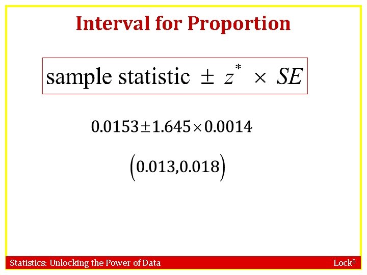 Interval for Proportion Statistics: Unlocking the Power of Data Lock 5