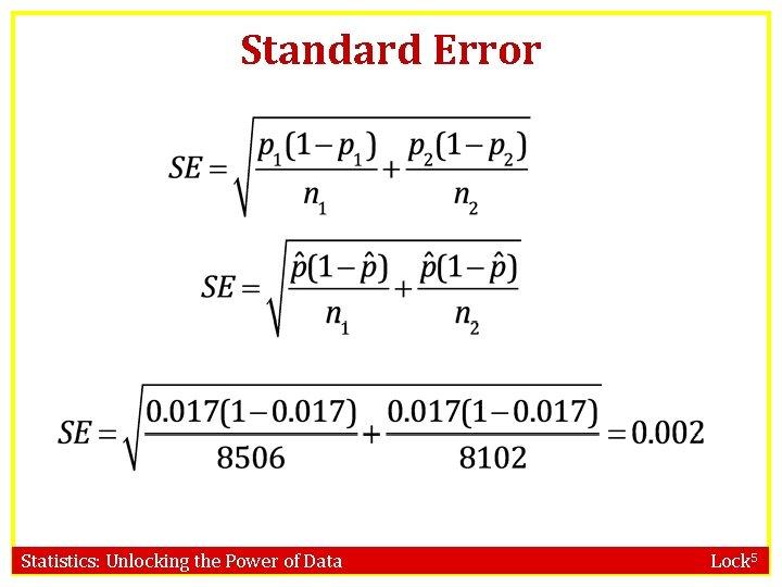 Standard Error Statistics: Unlocking the Power of Data Lock 5